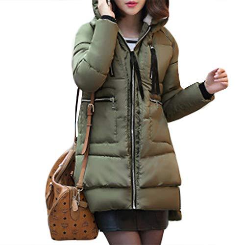 Avec Veste Coton Épais Taille Zip Longue Femme Ample Doudoune En D'hiver Duvet Green Chaud Grande Plus Manteau Hiver À Capuche P6FqBwBI