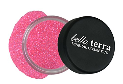 Mineral Glitter Eyeshadow Makeup Powder – Metallic Cosmetic Highlighter for Face & Nails – Pigment Dust - Natural Makeup (Bubble Gum) ()