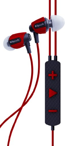 Klipsch Image S4i Rugged - Red All Weather In-Ear Headphones For iPhone iPad iPod