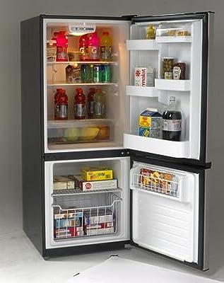 Avanti FFBM102D3S Bottom Mount Frost Free Freezer/Refrigerator, Black with Stainless Steel Doors