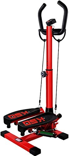 DPPAN Máquina de Step Swing, Stepper Fitness Mini Stepper con Pantalla LCD Ajustable Swing Stepper Máquina De Ejercicios,Red