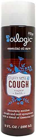 Oilogic Care Stuffy Nose and Cough Essential Oil Vapor Bath Relief for Baby or Toddler 9oz