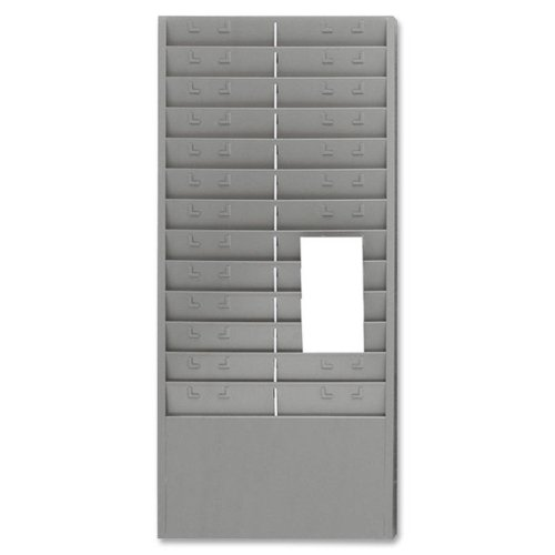 Mmf Time Card (Wholesale CASE of 5 - MMF Industries Time Card/Ticket Message Racks-Time Card/Ticket Message Rack, 12 or 24 Pockets, Gray)