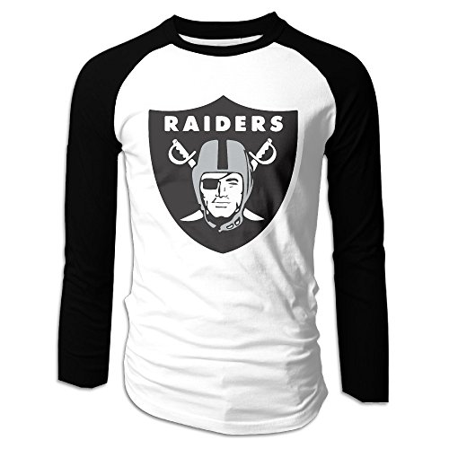 LOVEGIFTTO MEN Mens Ken Stabler 12 Raiders Long Sleeve Comfort Raglan Tee Shirt Large (Lil John Shirt compare prices)