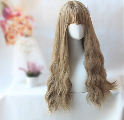 YunNasi Lady Wig Natural Long Curly (Fire Resistant Halloween Decorations)