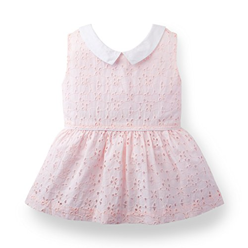 Hope & Henry Girls Collared Eyelet Top Made With Organic Cotton
