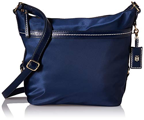 (Tommy Hilfiger Hobo Bag for Women Work Nylon, tommy navy)
