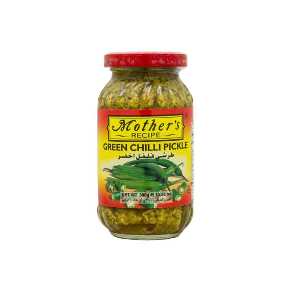 Mothers Recipe Green Chilli Pickle Bottle, 300 g