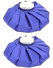 LIOOBO 2pcs Bolsa de Hielo útil Tela Duradera Multifuncional práctica Bolsa de Hielo Bolsa de Agua Caliente Paquete frío para Hombres niños Mujeres