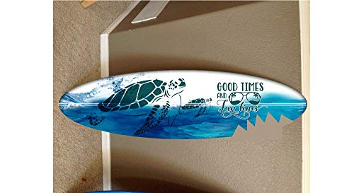 4' EPOXY finish wall hanging surf board surfboard decor hawaiian beach surfing beach - Decor Painted Surf Hand