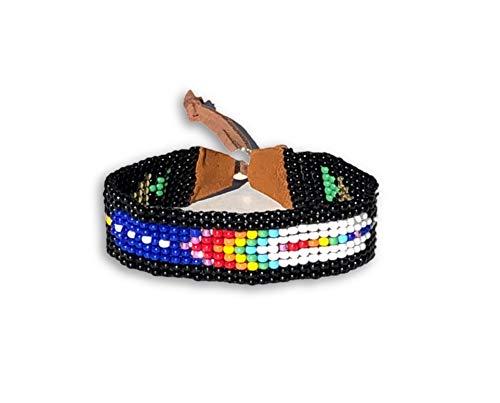 Mayan Arts Handmade Bracelet, Glass Beads, Beaded, Variety Designs, Leather, Shabby Chic, Boho Look, Aztec Tribal, Handmade in Guatemala (Style -