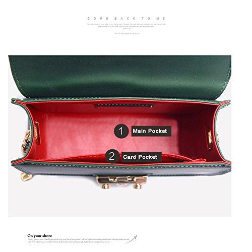 Yoome Retro Tiny Flap Bag Nieten Dull Polnische Kette Stilvolle Taschen Für Frauen Mode Taschen Für Mädchen - Rot L.Pink