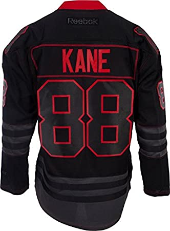 cc5fc0890 Chicago Blackhawks Black Ice Patrick Kane #88 Premier Jersey Stitched NHL  Reebok Official: Amazon.co.uk: Sports & Outdoors