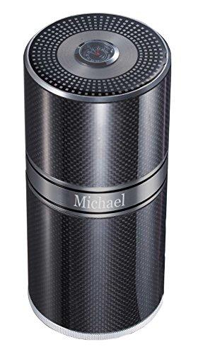 Personalized Aluminum Carbon Fiber Cigar Travel Tube 9x20cm by Visol