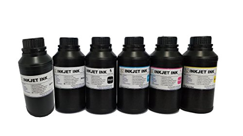 6x250ml ND Brand Premium Led UV Curable ink for Flatbed Printer Head R290,L800,L1800,R1390,R1400,R2000,DX5,DX7