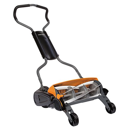 Fiskars Reel Mower, Lawn mower with contactless cutting system, cutting...