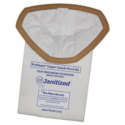 - APCJANPTSCP62 - Vacuum Filter Bags Designed to Fit ProTeam Super Coach Pro 6/GoFree Pro