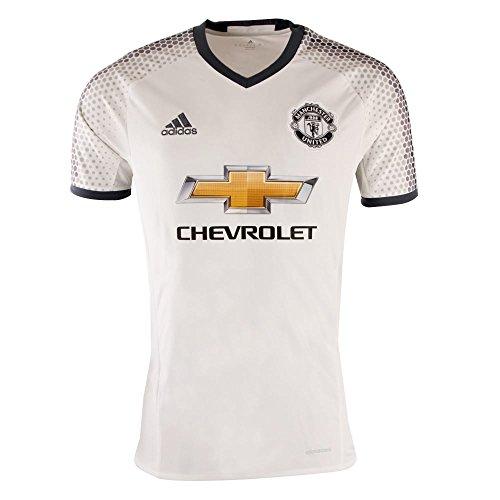 マイナー醜い擬人adidas Manchester United FC Third Soccer Jersey(White / Dark Onix)/サッカーユニフォーム マンチェスター?ユナイテッドFC THIRD用 (US Size - Large)