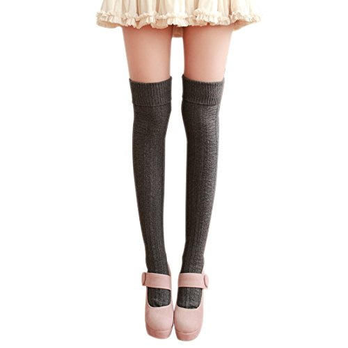 8f8053eab ... High Over The Knee Socks (Black).    . 10. rating. Slocyclub Womens  Solid Color Cotton
