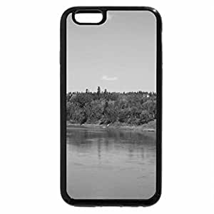 iPhone 6S Plus Case, iPhone 6 Plus Case (Black & White) - River view in the Fall