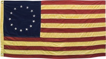 Tea Dye Aged Betsy Ross Colonial American Flag Country Primitive Patriotic Decor