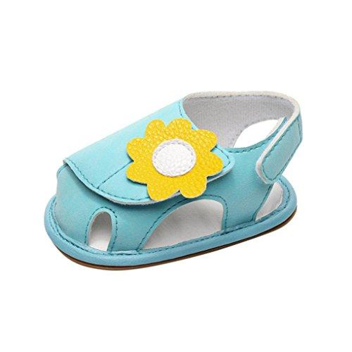 Schuhe für Baby - Sommer Sandalen - Baby Sandalen Gladiator - Fashion Sneaker - Casual Slipper - Schuhe für Kinder rutschfester Sohle für Babys für 0-3 3-6 6-9 9-18 18-24 Monat (18~24M, Rose) Blau