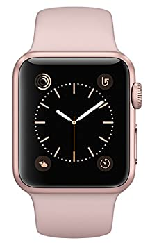 Apple Watch Series 2, 38mm Rose Gold Aluminum Case With Pink Sand Sport Band 0