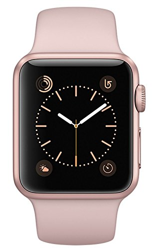 Apple Watch Series 2, 38mm Rose Gold Aluminum Case with Pink Sand Sport Band by Apple