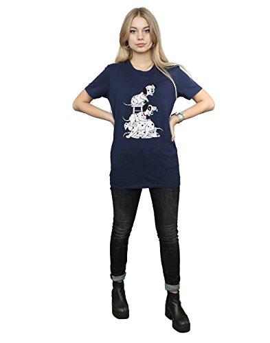 Blu Flesh 101 Disney scuro Dalmatians Woman T shirt Boyfriend Absolute Cult Fit RxFvZ4
