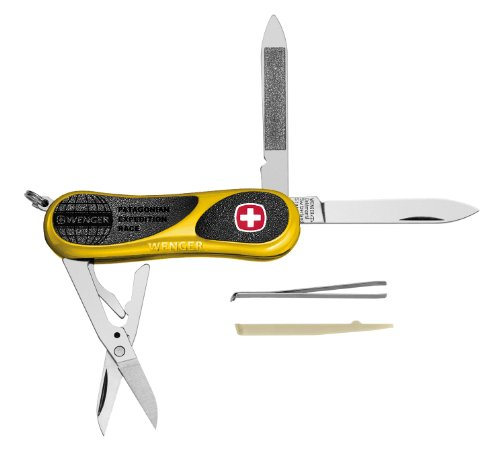 Wenger 16806 Swiss Army EvoGrip 81 Yellow PER Pocket Knife, Yellow and Black, Outdoor Stuffs