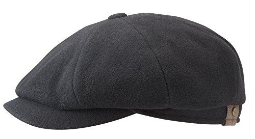 Stetson Hatteras Wool/Cashmere Mix Newsboy Cap (56cms, Black)