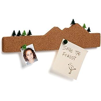 Amazon Com Decorative Cork Bulletin Board And Push Pins