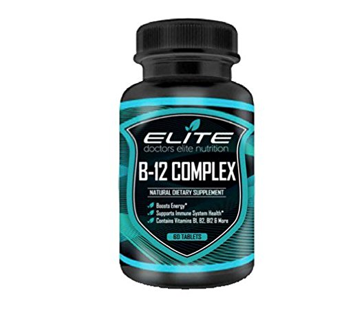 Vitamin B Complex Supplement With B12 by Drs Elite - Energy Boost - Stress Reliever - High Potency Extra Strength Antioxidant Supplement - Doctor Recommended - 60 Tablets
