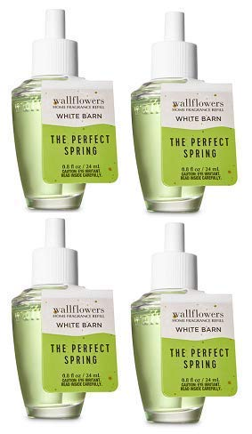 Bath and Body Works 4 Pack The Perfect Spring Wallflowers Fragrance Refill. 0.8 fl oz. (Perfect Spring)