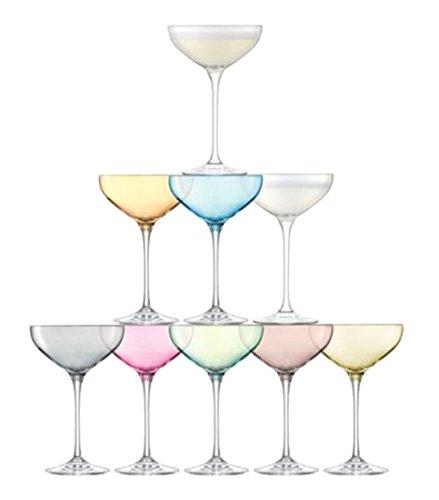LSA International Tower Champagne Set (10 Pack), 7.9 fl. oz., Assorted by LSA International