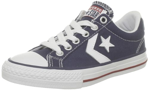 Converse Navy Core Unisex White Ox Canv Player Star Trainers Child rxR8pIr