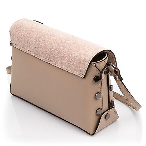 cf7f6c157 cierre bolso Solapa 24x16x9 Cm Piel Artegiani Color Diseño Auténtica  Genuino Vera bolso Leather Pelle bolso ...