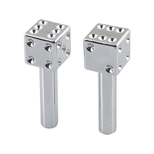 (MACs Auto Parts 60-12888 Door Lock Knobs - Chrome Dice)