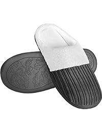 Comfy Soft Coral Fleece Memory Foam Indoor/Outdoor Slip-On Slippers Women