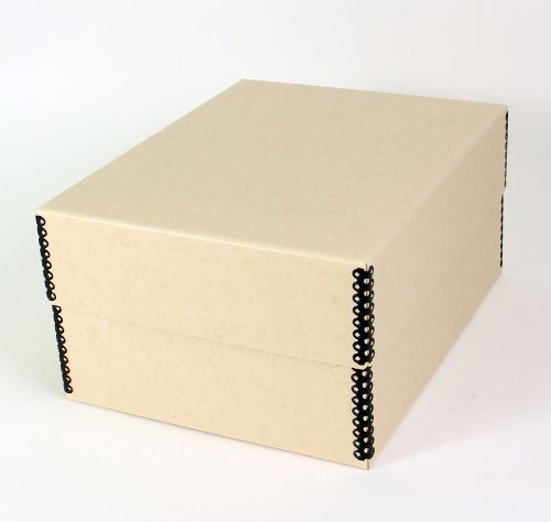 Short Top Box 10.5'' x 8.2'' - Container For Safe Storage of Post Cards and Photographic Prints by Archival Boxes