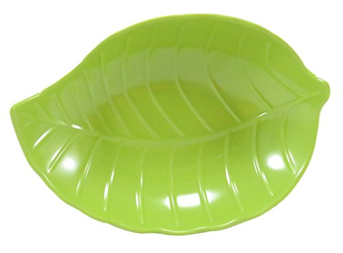 (Leaf Candy Snack Dish Bowl Melamine 7 x 5 Inches Neon)