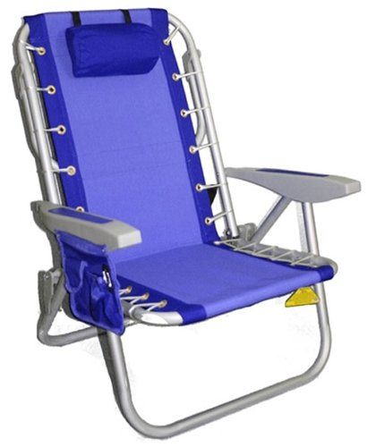 (Rio Gear Ultimate Backpack Chair with Cooler, Blue/Blue )