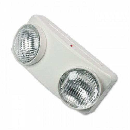 - Swivel Head Twin Beam Emergency Lighting Unit, Polycarbonate Case, 5-1/2 Inch