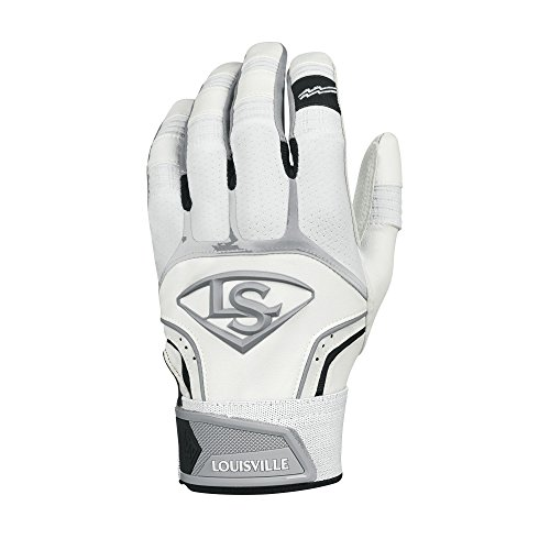 Louisville Slugger Prime Adult Batting Gloves - Small, White