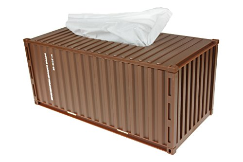 INFMETRY Shipping Container Tissue Box-Multifold Paper Towel Dispenser (Brown) (Container Paper Towel)
