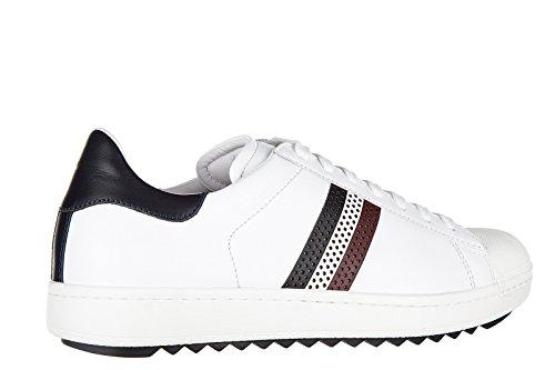Moncler chaussures baskets sneakers homme en cuir joachim blanc