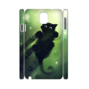 case Of Cat 3D Bumper Plastic customized case For samsung galaxy note 3 N9000