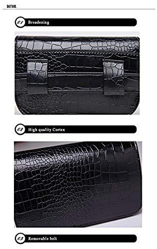 2819a256b162 crayfomo Leather Fanny Packs Women's Fashion Mini Waist Bag Crocodile Cell  Phone Pocket Women Sport Purse Running Outdoor Pocket