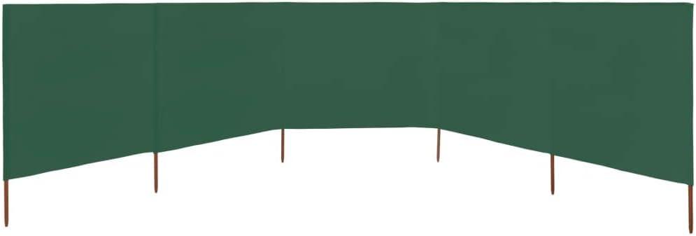 600x80cm,5 Paneles, Negro UnfadeMemory Paravientos Plegable para Playa para Protector de Vientos,Textil no Tejido y Madera