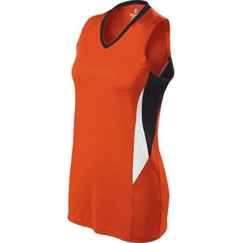 Holloway Women's Rise Racerback Jersey , Orange|Black, x-large by Holloway
